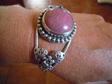 Armspange Silber * Feldspat rosa