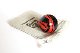 Murmel rot/schwarz glänzend