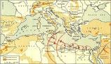 British WWII Map of the Mediterranean