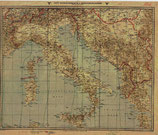 German WWII Map of the Mediterranean