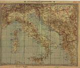German WWII Map of the Mediterranean