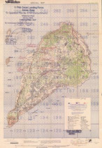 US WWII Map of Iwo Jima