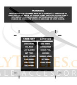 WWII US Cockpit Decal Set B