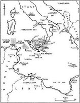 British WWII Map of Malta