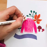 ONLINE-WORKSHOP Sweater Weather Illustratie