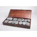 Hotstone Basalt stenen ( 64 st.) in luxe houten kist.