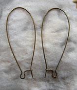 Kidney Ohrringe Messing 35 mm