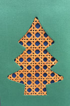 Weihnachtskarten Tanne, 12 x 18 cm, inkl Couvert