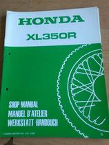 Honda XL 350 R  -  Werkstatt-Handbuch im Paket