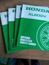 Honda XL 600 V -  Werkstatt-Zusatz -Handbücher im Paket