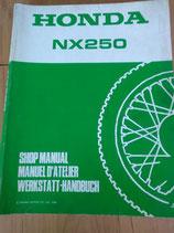 Honda NX 250 -  Werkstatt - Handbuch im Paket