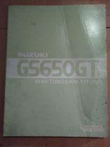 Suzuki GS 650 GT / GL/ G Katana - originale Wartungsanleitung