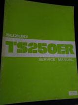 Suzuki TS 250  -  Servicehandbuch & Zusatz im Paket