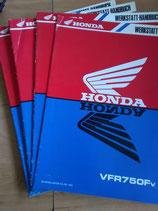Honda VFR 750  - Werkstatt-Handbuch-Zusätze  im Paket