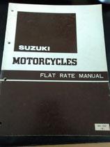Suzuki Motorcycles Flat Rate Manual/ Okt. 1980, Englisch