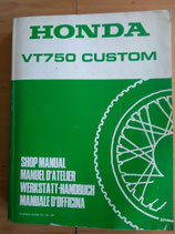 Honda VT 750 Costum RC 29-  Werkstatt - Handbuch