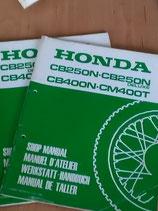 Honda CB 250 N  -  Werkstatt - Zusatz  Handbücher im Packet