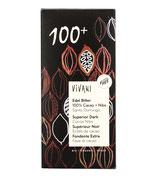 Tavoletta di cioccolato fondente 100+