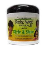 Taliah Waajid Kinky Wavy Natural Herbal Hair Styling Repair Cream - Creme 177ml