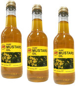 3x KTC 100% Pure Mustard Oil - Senföl 500ml (insgesamt ist 1500ml)