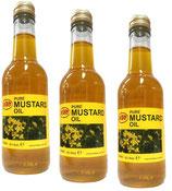3x KTC 100% Pure Mustard Oil - Senföl 250ml (insgesamt ist 750ml)