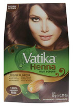 Dabur Vatika Henna Hair Colour Permanent Natural Brown 6x10g (insgesamt 60g)