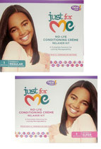 Just For Me No Lye Conditioning Creme Relaxer KIT REGULAR / SUPER