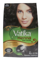 Dabur Vatika Henna Hair Colour Permanent Rich Black 6x10g (insgesamt 60g)