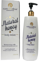 Care and Clear Cosmetics Natural Honey Body Lotion Moisturizing Milk 400ml