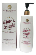 Care and Clear Cosmetics White & Bright Body Lotion Skin Lightening Lotion 400ml