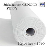 Reißvlies, mittelschw. Stoffe, 100m - STIFFY 1640 von Gunold