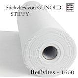 Reißvlies, schwere Stoffe, 100m - STIFFY 1650 von Gunold