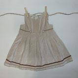Vestido terciopelo beige VOLTERETA