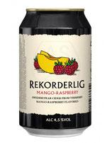 Rekordelig Mango & Rasberry Cider 330 ml 4,5 % vol