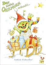 """Der kleine Ohrwurm zu Besuch mit CD und Kunstpostkarte """"Fröhliche Weihnachten"""""""