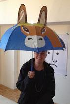 Kinderregenschirm mit Blinklicht für die Sicherheit im Dunkeln!