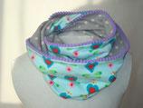 Loop-Schal Herzen auf mint