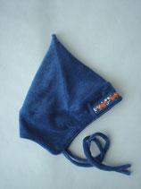 Baby-Zwergenmütze nachtblau mit Fuchs