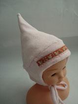 Baby-Zwergenmütze rosa mit Eichhörnchen