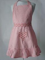 Baumwollschürze Erdbeeren rosa