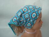 Jersey-Kopftuch Blumen auf blau