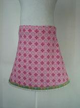 Jersey-Jupes rosa Blumenkreise mit Eulen