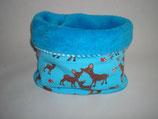 Schlauch-Schal Rehe auf blau