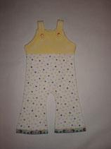 Baby-Strampler gelb/weiss mit Igel