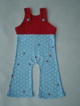 Baby-Strampler Sterne auf blau