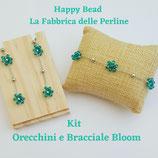 Kit Wire Orecchini e Bracciale Bloom versione Azzurro