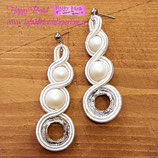 Orecchini Sposa Circles Bianco