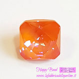 Cabochon Kaleidoscope Square (4499)Swarovski  14mm Delite Orange Glow