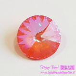 Rivoli Swarovski (1122) 12mm Crystal Orange Glow DeLite