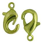Chiusura Moschettone Goccia 12mm Verde Lime con anellino 4 pz
